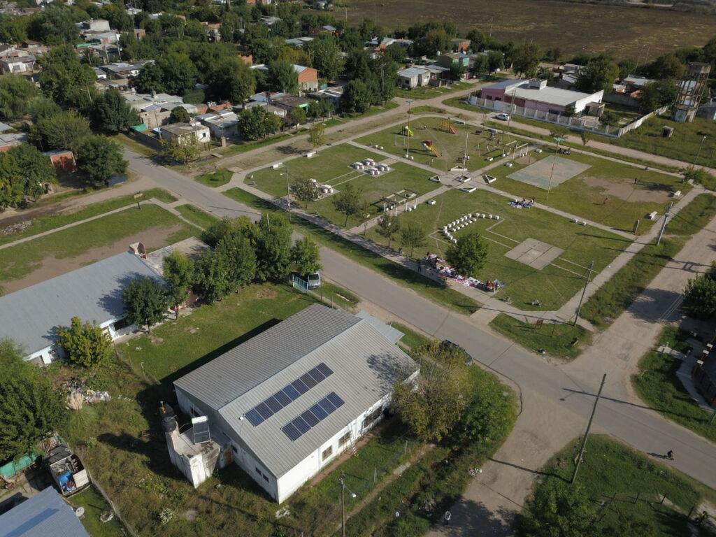 Imagen aerea del barrio